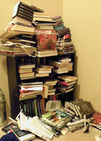 One of Patty's Book Shelves.
