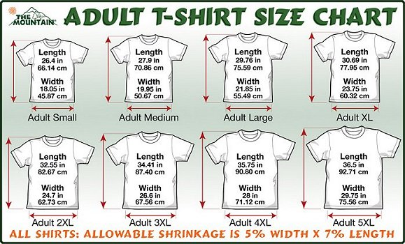 Size Chart for  The Mountain  Shirts. Mercy s Garage Marbled Tee    10 00   Hurog Store